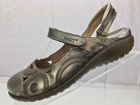 Naot Slingback Flat Sandals - Metallic Leather Strap Fastening Women's Size 37