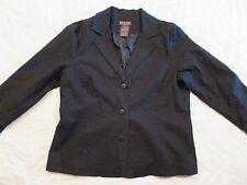 DLG Black Dress Blazer Causal 3 Button Front Jacket Womens 12P Petite