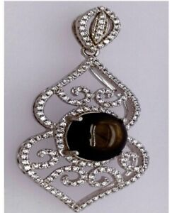 Sterling Silver And Black Sapphire Pendant