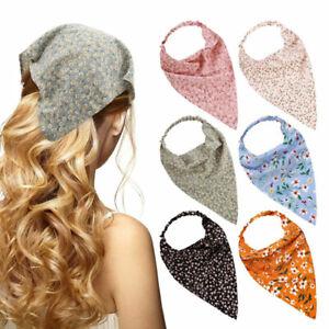 Triangle Bandanas Headband Elastic Hair Bands Scrunchies Floral Print Hair ca