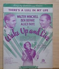 "Never In A Million Years - 1937 sheet music - from movie ""Wake Up And Live"""