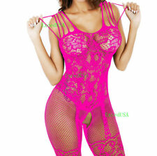 2 Women-Bodystocking-Sexy-Lingerie-Sleepwear-Lace-Teddy-Dress Babydoll-Nightwear