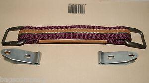 Handle case trolley luggage suitcase grip replace repair D I Y burgundy tan