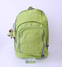 01251415e NWT Kipling Hiker Expandable Backpack With Furry Monkey Citron (Apple Green)