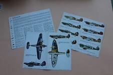 ESCI 3 dépliant avion Curtiss P-40 Hawker Hurricane historique marquage