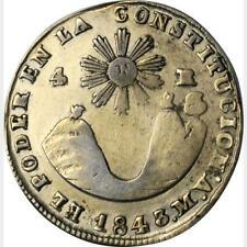 1843 Mv Ecuador 4 Reales, Anacs VF 30 - Gereinigt, Quito Ungebraucht, km 24