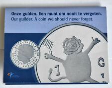 Netherlands last guilder 2001 folder BUC Dutch mint coin set  gulden