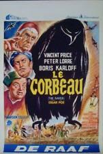 RAVEN Belgian movie poster 1963 VINCENT PRICE BORIS KARLOFF ROGER CORMAN POE NM