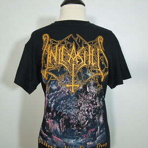 - UNLEASHED Shadows In The Deep T-Shirt Black Men's size L (NEW) NWOT