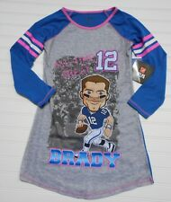 New England Patriots Nightgown TOM BRADY NFL Football Pats Girls 4/5 6/6X