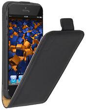 mumbi Leder Tasche Flip Case für Apple iPhone SE 5s 5 Hülle Schutzhülle Wallet