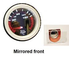 Pod titular 52mm Aceite Temp Calibre Con Espejo Frontal Blanco Led Medidor Dial ver tienda Dash