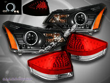 08-2011 FORD FOCUS PROJECTOR HALO CCFL HEADLIGHTS / TAIL LIGHTS RED LED NEW