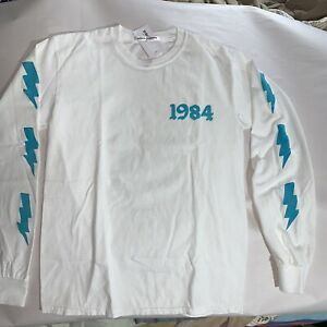NWT auth BIANCA CHANDÔN size SMALL 1984 graphic tee long sleeve lightening bolts