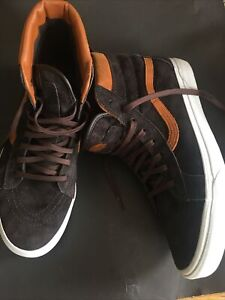 Vans High Top Size 11 Brown Suede Leather Scotchguard Trainers Skate Shoes Worn2