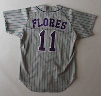 Miguel Flores game worn used 1994 Charlotte Knights jersey! Guaranteed Authentic