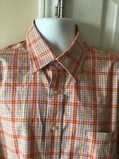 Sero by Forsyth Men's XL No Iron Tailored L/S Multi Check Button Down Shirt
