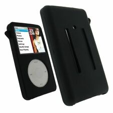 Black Rubber Silicone Skin Cover Case For iPod Video 30GB Classic 80GB/160GB
