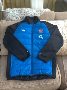 Canterbury England Rugby Union Sky Blue Padded Jacket 2017 Size Large Worn Once