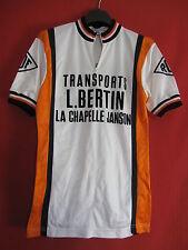 Maillot cycliste Vintage La chapelle Janson ROF Transports Bertin Jersey - 2