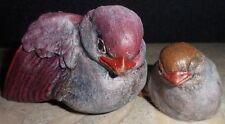 Holland Stone Wild Life Red Bird Figurine Mamma W/ Baby Curio Item Rheden S A 2