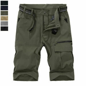 Tactical Men's Outdoor Cargo Hiking Shorts Quick Dry Nylon Pants Casual Shorts
