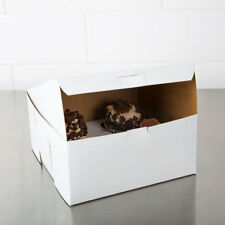 25 Bakery Box 8x8x4 WHITE Cake Pie Cookie Candy Cupcake Favor
