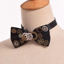1pc Unisex Gothic Gear Bowtie Vintage Steampunk Victorian Bow Tie Neckwear