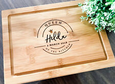 """Queen of the Kitchen"" Personalized Serving Board, Custom Chopping Board"
