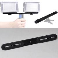 "Dual Flash Bracket Holder fit for1/4""Screw Studio Tripod Light Stand DSLR Camera"