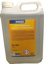 ACIDE PHOSPHORIQUE 75% 5 LITRES dérouiller pièces métalliques protège oxydation