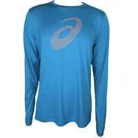 ASICS Mens Atomic Blue Motiondry Long Sleeved Sports Running Sweat Shirt Top M L