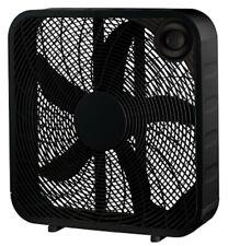 """Homepointe 20"""" Black Box Fan 3 Speed Settings"""