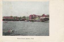 Water Front ~ Sydney NS CB Nova Scotia Harbour Boats Water Vintage Postcard