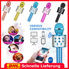 WS858 USB Wireless Bluetooth Karaoke Mikrofon Lautsprecher Mic KTV Microphone DE