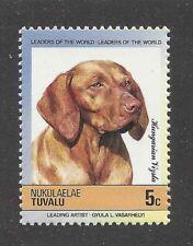 Art Head Portrait Postage Stamp Vizsla Hungarian Pointer Dog Tuvalu Mnh