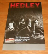 Hedley The Show Must Go Poster Original 2-Sided Promo 17x11