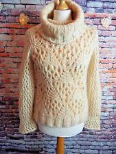 "Stunning designer MOSCHINO soft jumper 8 10 UK bust 34"" pure wool plush elegant"