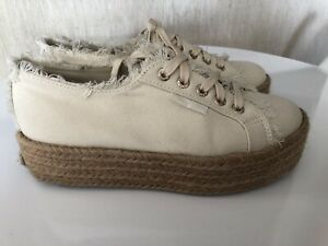 AJE x Superga Shoes colab - Size 37 Sand Natural With Box
