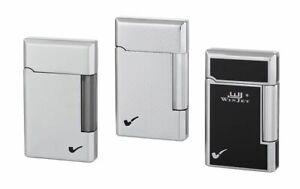 WinJet Premium Pfeifenfeuerzeug, 3 Motive, edel Deluxe Gasfeuerzeug Softflamme