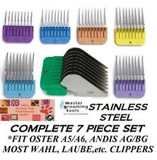STAINLESS STEEL BLADE Attachment GUIDE COMB SET*FitMOST ANDIS,OSTER,WAHL Clipper