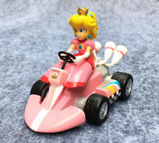 Super Mario Bros Princess Peach Pull Back Racers Racing Kart Car Toy Doll New