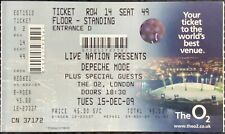 UNUSED DEPECHE MODE GIG TICKET THE O2  15.12.2009