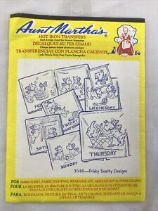 Aunt Martha's Hot Iron Transfers - 3548 Frisky Scotty Designs - Embroidery