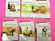 Daiso Japan needle felting animal kit 6 set Wool Felt from Japan