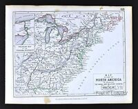 1850 Johnston Military Map North America - United States War of 1812 Era Niagara