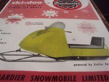 1962 Vintage BOMBARDIER SKI DOO Snowmobile Brochure Tincab