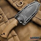 """9"""" Tactical Knife FIXED BLADE KNIFE w/ Kydex Sheath Coyote Brown Survival Knife"""