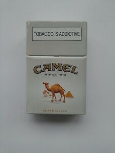 Vintage Camel Cigarettes Super Light Empty Metal Tin from South Africa