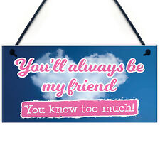 Always My Friend Plaque Sign Friendship Funny Wooden Gift Birthday Thank You
